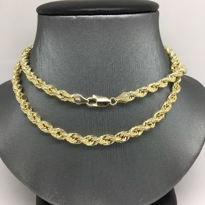 """Jewelry - 14K Gold Rope Chain ~4.80mm 22"""""""